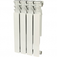 ROMMER Plus 500 4 секций радиатор алюминиевый (RAL9016) 89562