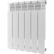 ROMMER Profi 500 (AL500-80-80-100) 6 секции радиатор алюминиевый (RAL9016) 82483