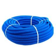 Кожух для трубы 16 (диаметр 25) синий бухта 50 метров