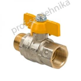 Кран шаровой газовый с внутренней/наружной резьбой 3/4 S.278 (S.1228)