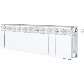 RIFAR BASE VENTIL 200 BASE VENTIL 200 BVR 12 секций радиатор биметаллический нижнее правое подключение (белый RAL 9016)