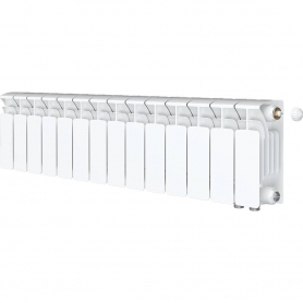 RIFAR BASE VENTIL 200 BASE VENTIL 200 BVR 14 секций радиатор биметаллический нижнее правое подключение (белый RAL 9016) BVR 200 - 14