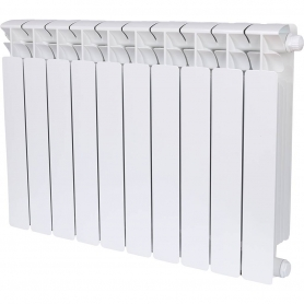 RIFAR BASE VENTIL 500 BASE VENTIL 500 BVR 10 секций радиатор биметаллический нижнее правое подключение (белый RAL 9016) RIFAR BVR 500-10