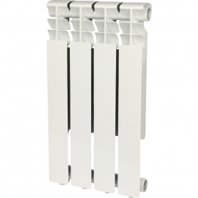 ROMMER Optima 500 4 секций радиатор алюминиевый (RAL9016) 89556