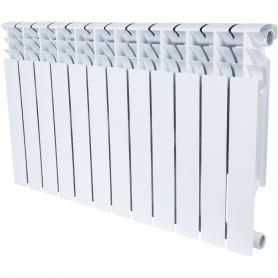 ROMMER Plus BM 500 12 секций радиатор биметаллический (RAL9016) 157237