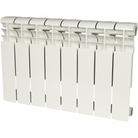 ROMMER Profi 350 (AL350-80-80-080) 8 секций радиатор алюминиевый (RAL9016) 86622