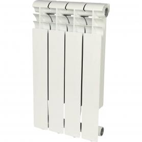 ROMMER Profi 500 (AL500-80-80-100) 4 секции радиатор алюминиевый (RAL9016) 82482