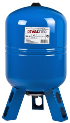 Расширительный мембранный бак для воды 50 VT.AV.B.060050