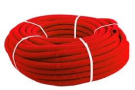Кожух для трубы 25(диаметр 40) красный бухта 30 метров SK 40040к