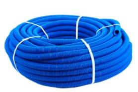 Кожух для трубы 16 (диаметр 25) синий бухта 50 метров SK 40025с