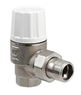 Клапан термостатический для радиатора улучшенный угловой 3/4