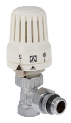 Клапан с термостатической головкой угловой для радиатора 1/2