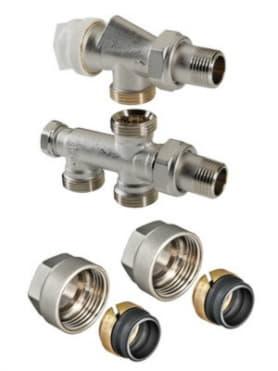 Термостатический узел для нижнего радиатора Однотрубная система (комплект) 1/2х50