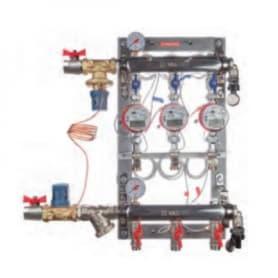 Тепловой узел учета с авт. бал. клапаном, без переп-го клапана, ввод СПРАВА 1