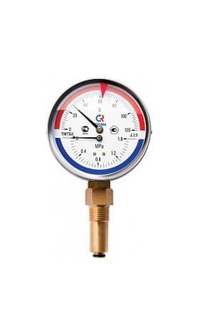 Термоманометр ТМТБ-41Р нижний 1/2 10 бар 0-150 ТМТБ-41Р.0410150