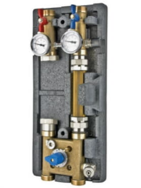 Насосная группа с байпасом и четырехходовым клапаном  для систем VARIMIX 1 1/4 - 4W-KV4